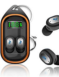 Недорогие -портативный x21s tws беспроводная связь bluetooth 5.0 наушники брелок гарнитура цифровой дисплей автоматическое подключение спортивные наушники