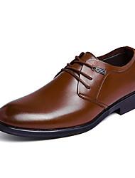 baratos -Homens Sapatos Confortáveis Couro Ecológico Outono Casual Oxfords Não escorregar Marron