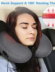Недорогие -Графен таймс путешествия с подогревом терапия с регулируемой температурой надувная подушка U-образный самолет с упаковочным мешком идеально подходит для воспаленного или болезненного шеи темно-синий