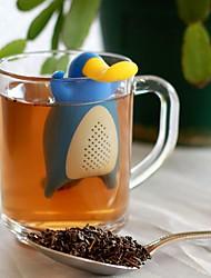 Недорогие -Многоразовые утка утконос форма силиконовый ситечко для чая вкладыш фильтр посуда для заваривания чая пустые пакетики чая кухонный инвентарь