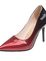 cheap -Women's Heels Stiletto Heel Pointed Toe Patent Leather Sweet / Minimalism Spring &  Fall / Fall & Winter Purple / Gold / Red / Party & Evening