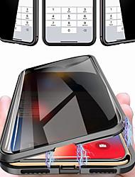 Недорогие -чехол для apple iphone 11 pro 11 pro max 11 ударопрочный магнитный чехол для всего тела сплошное цветное закаленное стекло х / х х х х х макс 7 плюс / 8 плюс 8/7
