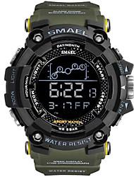 Недорогие -SMAEL Муж. Спортивные часы Цифровой Спортивные Pезина Черный 30 m Армия Светодиодная лампа Cool Цифровой На открытом воздухе - Черный Светло-синий Черный / Синий Один год Срок службы батареи