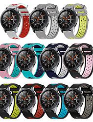 Недорогие -22 мм силиконовые браслеты для Samsung Galaxy Смотреть 46 мм передач S3 Frontier классические часы группа дышащий браслет