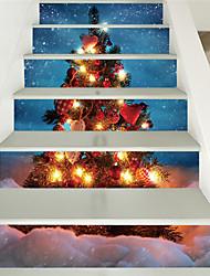 Недорогие -Рождество Снеговик Снежинка Лестницы украшения дома стены и плоские стены с рождественскими украшениями (100 * 18 6 штук)