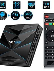 Недорогие -HK1 Super Smart TV Box Android 9.0 Rockchip RK3318 Quad Core 64 4 К 4 ГБ 64 ГБ 2.4 Г 5 г Wi-Fi BT4.0 HD медиаплеер
