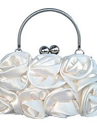 Недорогие -Жен. Цветы Шелк Вечерняя сумочка Цветочный принт Комплект поставки 2 шт. Черный / Белый / Цвет шампанского