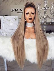 Недорогие -Парики из искусственных волос Естественные прямые Стиль Средняя часть Машинное плетение Парик Блондинка Светло-золотой Искусственные волосы 28 дюймовый Жен. Женский Блондинка Парик Длинные