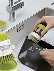Недорогие -вилка столовые приборы кастрюля тарелка чаша с моющим средством кухня чистые инструменты