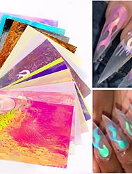 Недорогие -16 pcs Наклейка для фольги Серия сообщений маникюр Маникюр педикюр Лучшее качество Стиль / Цветной Повседневные
