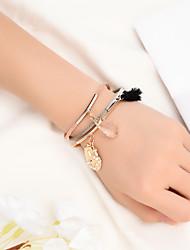 billige -Dame Vedhend Armband Multi Layer Skall Bohemsk Natur Ferie Lær Armbånd Smykker Regnbue Til Daglig Skole Klubb