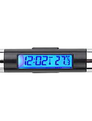 Недорогие -автомобильные электронные часы термометр автомобильные светящиеся часы датчик температуры воздуха на выходе два в одном поставки клип k01