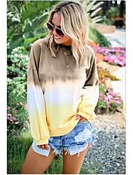 abordables -Femme Basique Sweatshirt Teinture par Nouage