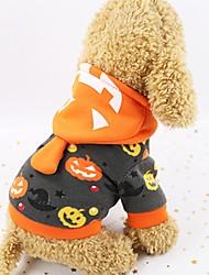 Недорогие -Собаки Плащи Одежда для собак Тыква Черный Полиэстер Костюм Назначение Осень Хэллоуин