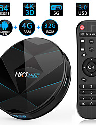 Недорогие -HK1 Mini Smart TV Box 4 ГБ оперативной памяти 32 ГБ ROM Android 8.1 Amlogic S905x2 2,4 г 5 г Wi-Fi Bluetooth H.265 4 К HD Media Player