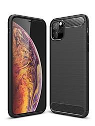 Недорогие -Кейс для Назначение Apple iPhone 11 / iPhone 11 Pro / iPhone 11 Pro Max Защита от удара / Ультратонкий Кейс на заднюю панель Однотонный Углеродное волокно