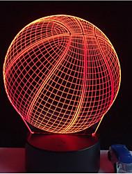 Недорогие -круто 3d баскетбол спорт домашний декор привел иллюзию сенсорный usb 7 изменение цвета лампа ночник лучший подарок детям