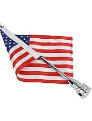 Недорогие -Мотоцикл задний американский сша флагшток украшения для harley xl883 1200 x48 комплект тип черный флаг полюс количество1 комплект