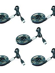 Недорогие -1 м usb гибкий светодиодные полосы 60 светодиодов smd3528 3 ключа управления / 21 световые эффекты / RGB водонепроницаемый / вечеринка / Рождественский фонарь / лампа украшения кабинета / декоративные