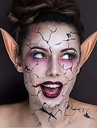 Недорогие -1 пара хэллоуин латекс эльф уши косплей маски фея гоблин природа цвет