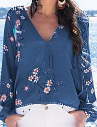 abordables -Tee-shirt Femme, Fleur Jaune