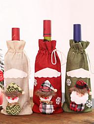 Недорогие -1 шт. Рождественские аксессуары бутылка вина санта-клаус снеговик крышка от бутылки комплект новогодняя сумка рождественский ужин рождественские украшения