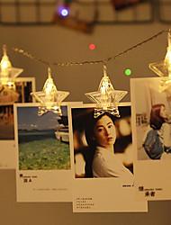 Недорогие -3-х струнный светильник 20 светодиодов теплый белый / RGB / белый креатив / вечеринка / звезда фото клип свет / атмосфера вечеринка по случаю дня рождения / декоративные USB питание 1 комплект
