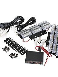 Недорогие -6 шт. / Компл. 54 светодиодные аварийные стробоскопы передняя решетка вспышка лампы с 3 мигающими режимами желтый для 12 В транспортных средств