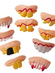 Недорогие -Поддельные зубы игрушка забавные зубы для вампира зомби хэллоуин зубные протезы косплей реквизит костюм украшение партии новизна затычки игрушка