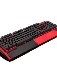 Недорогие -механическая клавиатура матовый металлический игровой USB проводная клавиатура с подсветкой RGB с запястьем многоцветный светящийся геймер