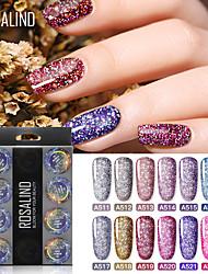 Недорогие -Кусачки для ногтей УФ-гель польский 5 ml 12 pcs Bling Bling Замочить от Долгое Подарок Bling Bling Модный дизайн / Цветной