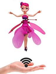 Недорогие -индукция волшебная принцесса куклы инфракрасный свет подвеска летающие куклы игрушки мини rc беспилотник девочка детский подарок рисунок игрушки