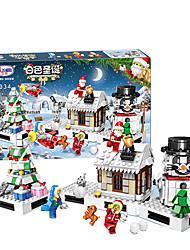 Недорогие -Конструкторы Конструкторы Игрушки Обучающая игрушка 741 pcs Домики Лошадь Карусель совместимый Legoing Милый стиль USB Рождество Мальчики Девочки Игрушки Подарок