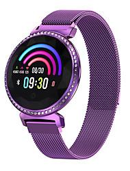 Недорогие -Смарт Часы Цифровой Современный Спортивные 30 m Защита от влаги Пульсомер Bluetooth Цифровой На каждый день На открытом воздухе - Лиловый Золотой Серебряный