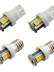 povoljno -10pcs svjetiljke e10 sa 7 smd 2835 svjetiljkama širine nadzorne ploče automobila bijele tople bijele DC 12v 1w