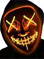 Недорогие -1шт Светодиодная маска Зеленый Аккумуляторы AA Cool / Украшение / Атмосферная лампа 5 V