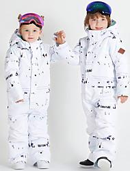 billige -Gutt Jente Skidress Vanntett Vindtett Varm Ski Camping & Fjellvandring Vintersport polyster Joggedress Skiklær