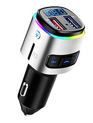 Недорогие -Автомобильный зарядник bc41 mp3-плеер Bluetooth-гарнитура Handsfree Зарядные устройства с двумя портами Быстрая зарядка FM-передатчик радио адаптер DSP