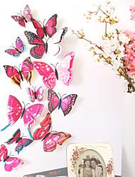 billige -dyr dobbeltlags vegg klistremerker 3d vegg klistremerker dekorative vegg klistremerker lys bryter klistremerker kjøleskap klistremerker bryllup klistremerker pvc hjem - roserød