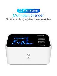 billige -Nillkin Smart Plug YC-CDA30 til Stue / Studere / Soverom Smart / Kreativ / Rask lading Med ledning USB 100-240 V