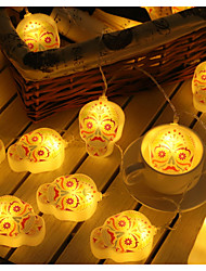 Недорогие -3 м хэллоуин струнные фонари 20 светодиодные тыквы фонарь черепа Creppy рука глаз мяч картина для Хэллоуина декор партия теплый белый светлый цвет