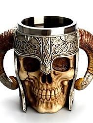 billige -ebros gave viking ram horned pit lord kriger hodeskalle med kamphjelm øl stein tankard kaffekopp krus 13oz norse mytologi folklore odin thor loki ragnarok poetisk edda dekor
