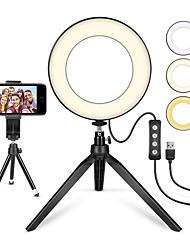 Недорогие -ZDM 1 комплект 6 с подставкой для штатива и держателем для мобильного телефона Настольная светодиодная лампа с 3 режимами освещения&усилитель; 11 уровень яркости usb 5v