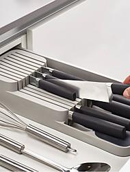 Недорогие -1 шт. Кухонный ящик организатор лоток ложка нож вилка столовые приборы разделение отделка ящик для хранения столовые приборы организатор