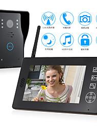 Недорогие -беспроводной 2,4 ГГц 7-дюймовый громкой связи 800 * 480 пикселей один на один видео домофон