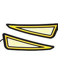 povoljno -2pcs drl dnevnu svjetlost orao kob vodio auto žarulja bijela svjetlo žuta drl auto pokazivač zagrijavanje svjetlo auto styling 12v