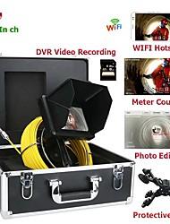 Недорогие -Ручной промышленный эндоскоп с 7-дюймовым 23-мм объективом HD 1080p камера для осмотра канализационных труб со счетчиком метров / видеозаписью DVR / Wi-Fi Wireless / Keyboar для редактирования