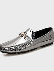 Men's Silver Loafers