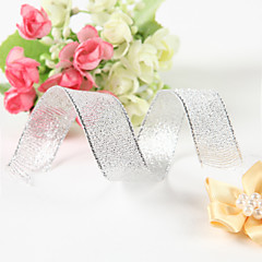 cheap Wedding Ribbons-Solid Color Metalic Wedding Ribbons Piece/Set Metallica Ribbon Decorate favor holder Decorate gift box