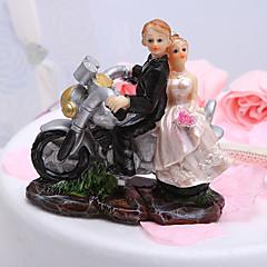 קישוטים לעוגה רכב / זוג קלסי שרף מסיבה לכלה / חתונה לבן / שחור נושאי גן קופסת מתנה